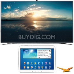 "UN55F9000 - 55"" 4K Ultra HD 120Hz 3D Smart LED TV - Galaxy Tab 3 10.1"" Bundle"