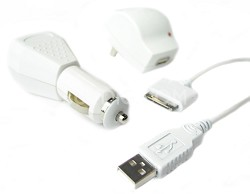 Home/Travel , Car & USB Charger Kit for iPod