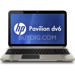 """Pavilion 15.6"""" DV6-6C13NR Entertainment Notebook - AMD Quad-Core A6-3420M Proc."""