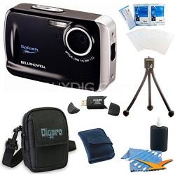 WP5 Waterproof 12.2 MP Black Digital Camera Bundle