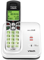 CS6219 - DECT 6.0 White/Black Expandable Cordless Phone with Caller ID and Hands