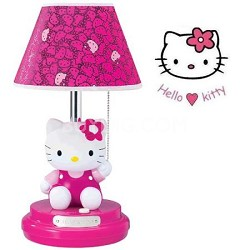 KT3095M Sitting Kitty Table Lamp - Magenta Head
