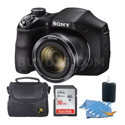 Cyber-shot DSC-H300 Digital Camera Black 16GB Kit