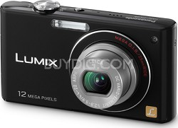 DMC-FX48K LUMIX 12.1 MP Compact Digital Camera with HD Movie (Black)
