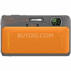 Cyber-shot DSC-TX20 16.2 MP Waterproof Shockproof 3D Sweep Camera (Orange)
