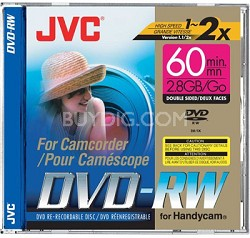 Mini DVD-RW re-writable Dual-sided Disc for DVD Camcorders (2.8 GB capacity)