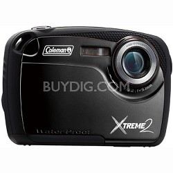 "16MP Waterproof Digital Camera with 2.5"" LCD Screen HD Video (Black) C12WP-BK"