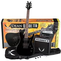 Vendetta XM Tremolo Electric Guitar Pack with Amplifier - Black