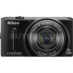 COOLPIX S9400 18.1 MP 18x Zoom 1080p Digital Camera Factory Refurbished - Black