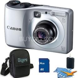 PowerShot A1200 Silver Digital Camera 4GB Bundle