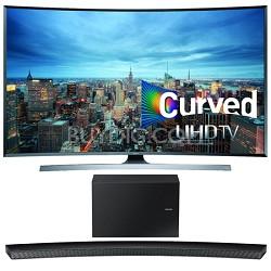 UN55JU7500 - 55-Inch 2160p 3D Curved 4K UHD Smart TV w/ HW-J8500 Soundbar Bundle