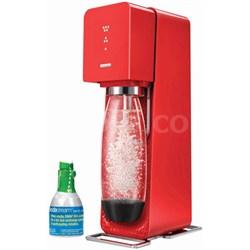 Source Home Soda Maker Starter Kit, Red