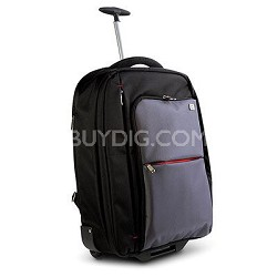 20-Inch Notebook Roller Case Backpack - Black/Gray