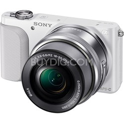 NEX-3NL Interchangeable Lens Camera 16.1 Megapixel with 16-50mm Lens (White)