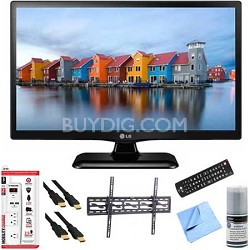 22LF4520 - 22-Inch 1080p Full HD 60Hz LED TV Plus Tilt Mount & Hook-Up Bundle