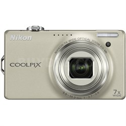 COOLPIX S6000 14.2 Megapixel Digital Camera - Champagne Silver (Refurbished)