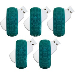 16 GB JumpDrive S33 USB 3.0 Flash Drive (Teal- Kaleidoscope) 5-Pack (80GB Total)
