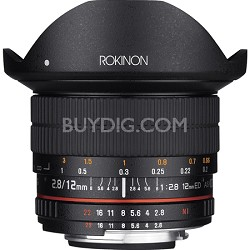 12mm F2.8 Ultra Wide Full Frame Fisheye Lens for Canon EF