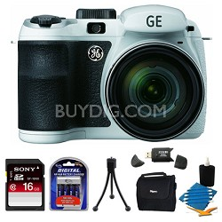 Power PRO X550-WH 16MP White Digital Camera 16GB Bundle