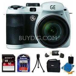 Power PRO X550-WH 16MP White Digital Camera 16GB Bundle