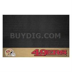 NFL San Francisco 49ers Vinyl Heavy Duty Grill Mat