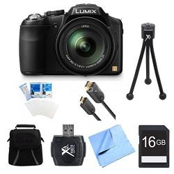 LUMIX DMC-FZ200K Digital Camera 16GB Bundle