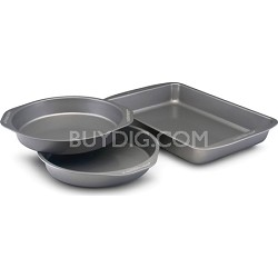 Nonstick Bakeware 3-Piece Cake Pan Value Set (57428)
