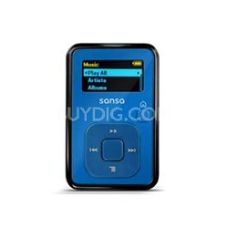Sansa Clip Plus 4GB Blue MP3 Player  ( SDMX18R-004GB-A57 )