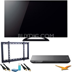 KDL46HX750 46 inch 3D Wifi XR 480hz LED HDTV with  BDPS590 3D Blu Ray