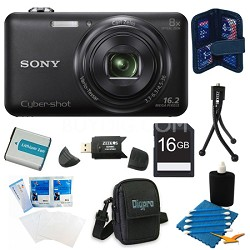 DSC-WX80 16 MP 2.7-Inch LCD Digital Camera Black Kit