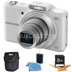 WB50F 16.2MP 12x Opt Zoom Smart Digital Camera White 8GB Kit