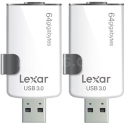 2-Pack JumpDrive M20i 64GB USB 3.0 Flash Drive for iPhone w/ Lightning Connector