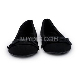 Black Flat Womens Shoe with Bow Size 8