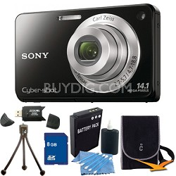 Cyber-shot DSC-W560 Black Digital Camera 8GB Bundle