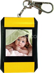 """DF15-BK 1.5"""" Keychain Digital Photo Frame - Holds up to 107 Images (Yellow)"""