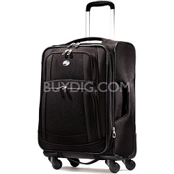 iLite Supreme 21 Inch Expandable Spinner Suitcase (Black)