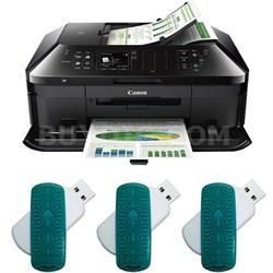 Picma MX922 Wireless AIO Printer + 3 Lexar 16GB USB 3.0 Flash Drives