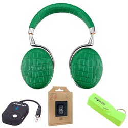 Zik 3 Wireless Noise Cancelling Bluetooth Headphones (Green Croc) Mobile Bundle