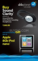 Sound Clarity Around the Ear with instant GIFT of an 8Gb iPod nano (Silver)