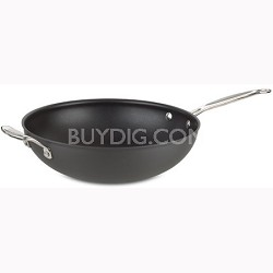 """Chef's Classic Nonstick 12-1/2"""" Stir Fry with Helper Handle and Cover - 626-32H"""