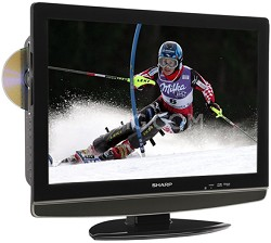 "LC-22DV24U 22"" High-definition LCD Flat-Panel TV w/ Built-in DVD Player"