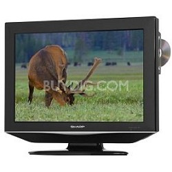 "LC-19DV24U 19"" High-definition LCD Flat-Panel TV w/ Built-in DVD Player"