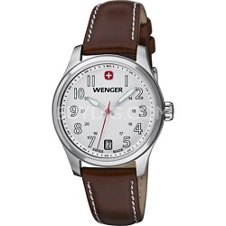 Ladies' Terragraph Watch - White Dial/Brown Leather Strap