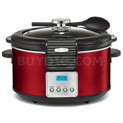 5-Quart Programmable Slow Cooker in Red - 14106
