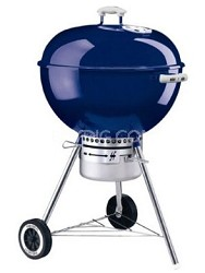 22.5-Inch One-Touch Gold Kettle Grill- Dark Blue
