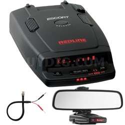 RedLine Dual-Antenna Radar Detector + Car Mirror Mount Bracket Kit
