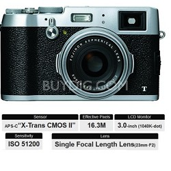 X100T HD 16.3MP 1080p Silver Compact Digital Camera