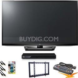 "42PA4500 42"" Class Plasma 720p HD TV Blu Ray Bundle"