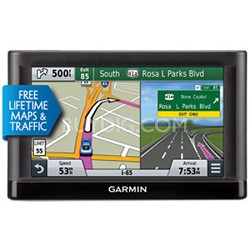 "nuvi 66LMT GPS Navigation System with Lifetime Maps & Traffic - 6"" Display"