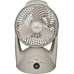 """9.6V NiMH Battery Rechargeable Portable Fan with 6"""" Blade"""